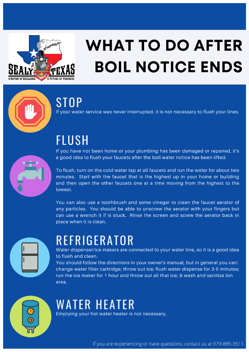What to Do After Boil Notice Ends