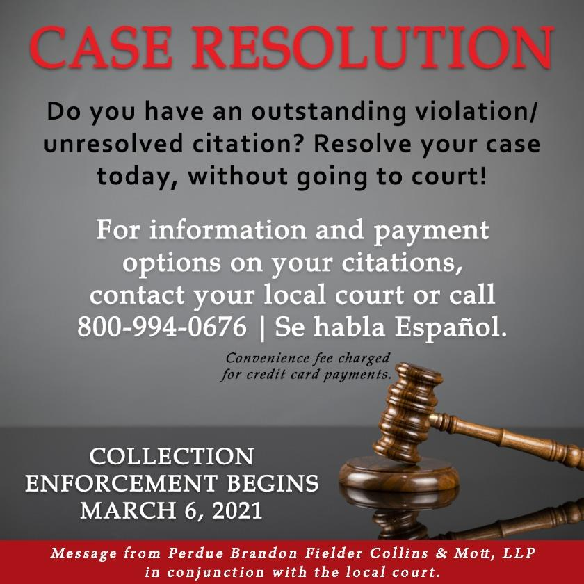 Court Case Resolution Campaign