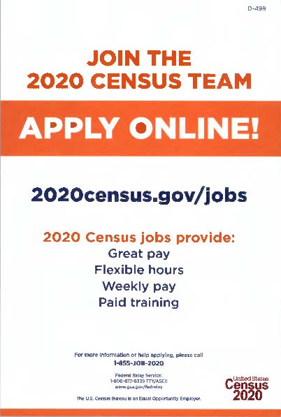 2020 Census team - apply online