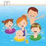 Family at Swimming Pool